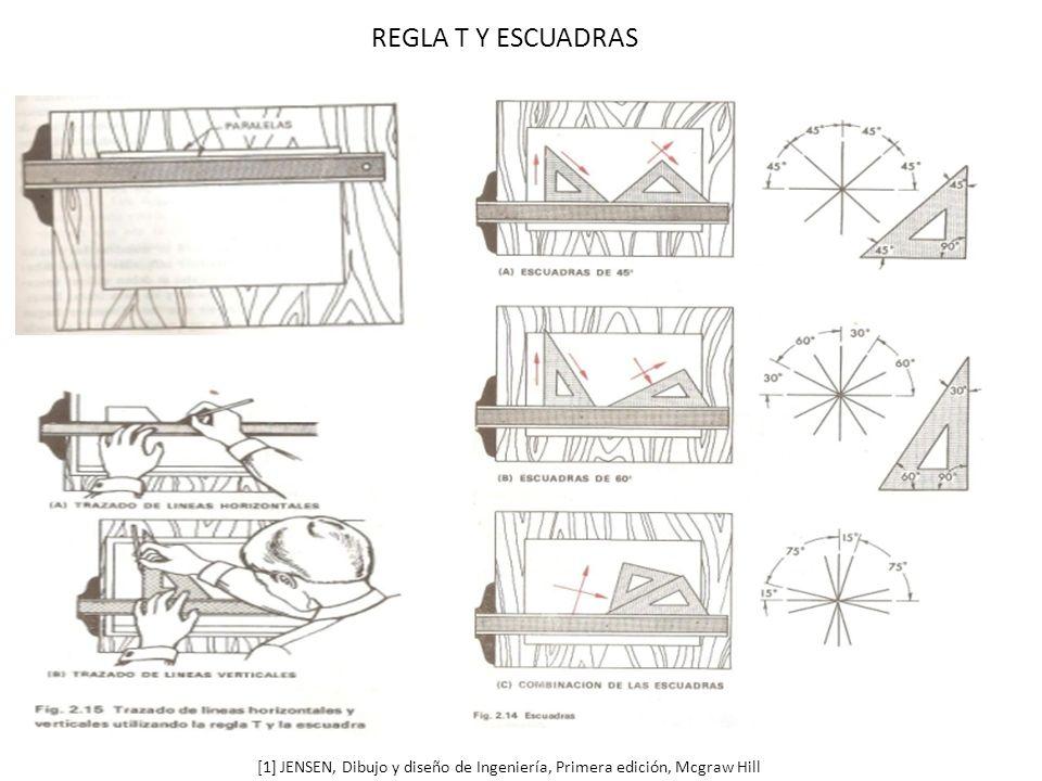 REGLA T Y ESCUADRAS [1] JENSEN, Dibujo y diseño de Ingeniería, Primera edición, Mcgraw Hill